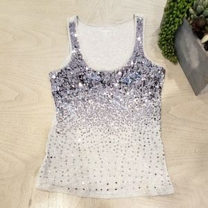 Size small sequin ombre tank top